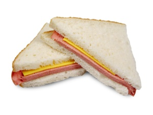 bologna & cheese wedge